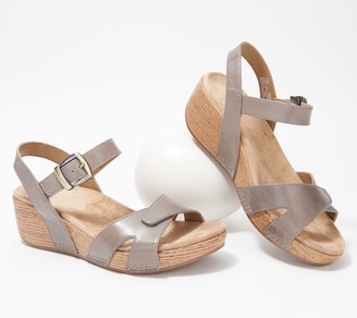 Dansko Burnished Calf Leather Sandals - Laurie