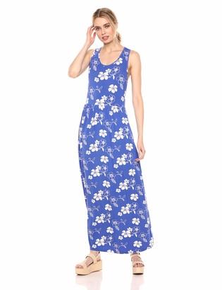 28 Palms Tropical Hawaiian Print Sleeveless Maxi Dress Casual