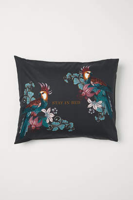 H&M Pillowcase with Printed Design - Gray