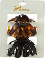 Riviera Black & Tortoise Hair Clip Set