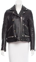 The Kooples Belted Leather Jacket
