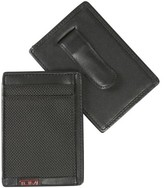 Tumi Men's 'Alpha' Money Clip Card Case - Black