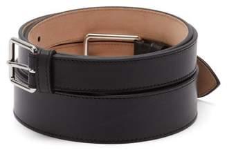 Alexander McQueen Double-buckle Leather Belt - Womens - Black