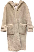 H&M Conscious Exclusive Conscious Exclusive White Faux fur Coat for Women