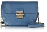 Furla Cobalt Blue Club Mini Pebble Leather Crossbody Bag
