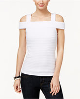 MICHAEL Michael Kors Textured Cold-Shoulder Top