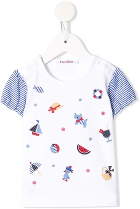 Familiar graphic-print cotton T-shirt