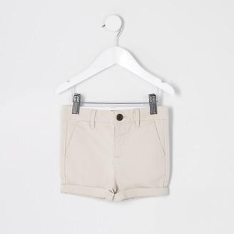 River Island Mini boys Beige chino shorts