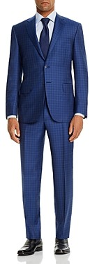 Canali Siena Tonal Large-Check Classic Fit Suit