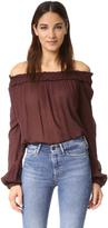 Raquel Allegra Shirred Collar Blouse
