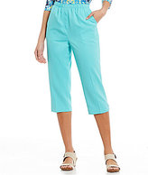 Allison Daley Solid Pull-On Grommet Tab Hem Capri