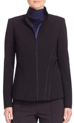 Lafayette 148 New York Sleek Tech Cloth Kat Jacket