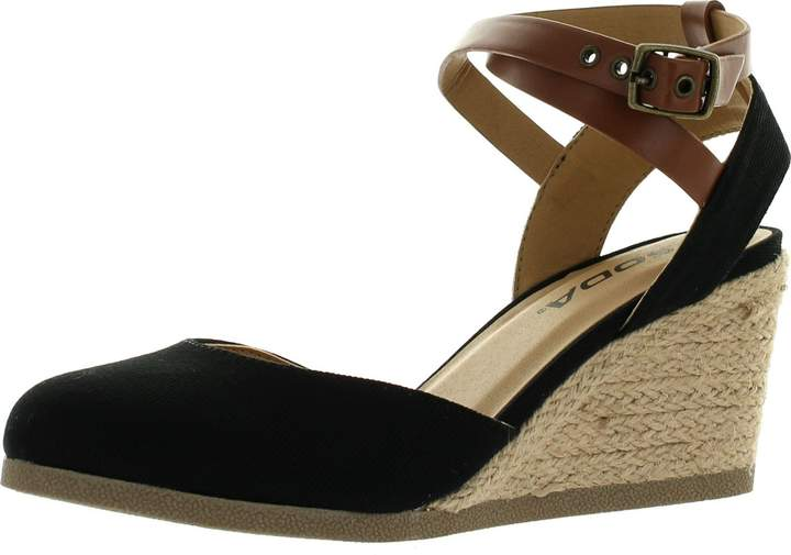 4e0544d41 Loafers & Slip-Ons BSGSH Womens Boho Lace Up Espadrille Wedge Sandal Closed  Toe Platform Mules ...