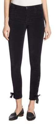 Joe's Jeans Icon Lace-Up Velvet Skinny Ankle Jeans