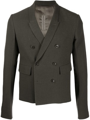 Rick Owens Cropped Double Breasted Blazer