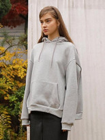 Wardrobe String Point Overfit Hoodie_gray