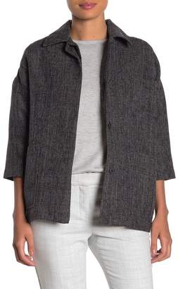 FRNCH Elbow Sleeve Front Button Jacket