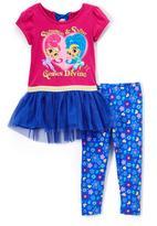 Children's Apparel Network Shimmer & Shine Purple Ruffle Tee & Leggings - Toddler & Girls
