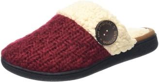 Dearfoams Women's Textured Knit Closed Toe Scuff Open Back Slippers