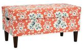 Skyline Furniture Katy Storage Bench in Cecilia Coral