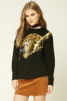 Forever 21 FOREVER 21+ Sequined Leopard Sweater