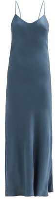 ASCENO The Lyon Bamboo Slip Dress - Blue