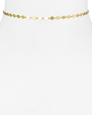 Argentovivo 18K Gold-Plated Sterling Silver Disc Choker Necklace, 12