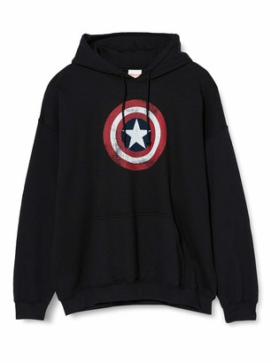 Marvel Women's Avengers Captain America Distressed Shield Hoodie