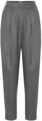 Brunello Cucinelli Wool-flannel carrot pants