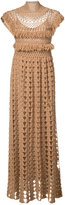 Ryan Roche - high neck knitted dress - women - Acetate/Cashmere - XS
