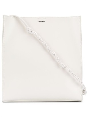 Jil Sander Calf Leather Tote Bag With Braided Strap