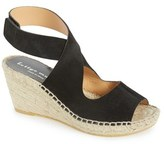 Bettye Muller Women's 'Mobile' Leather Wedge Espadrille Sandal
