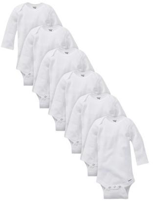 Gerber Baby Boy or Girl Gender Neutral Organic Onesies Long Sleeve Bodysuits, 6-Pack