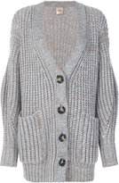 Nude cable knit cardigan