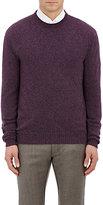 Ermenegildo Zegna Men's Cashmere Crewneck Sweater-PURPLE