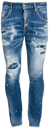 DSQUARED2 Ripped & Distressed Stretch-Cotton Jeans
