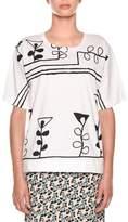Marni Crewneck Short-Sleeve Painted-Print T-Shirt