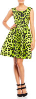Samantha Sung Printed Belted Fit & Flare Dress