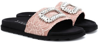 Roger Vivier Pool Slidy embellished slides