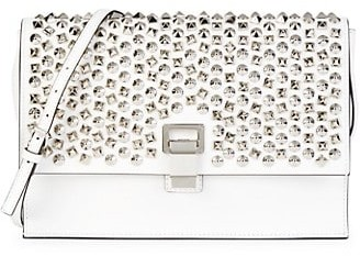 Proenza Schouler Small Lunch Embellished Leather Crossbody Bag