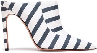 Altuzarra Davidson Striped Cotton-blend Twill Mules
