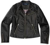 Ralph Lauren Girls' Faux Leather Moto Jacket - Sizes S-XL