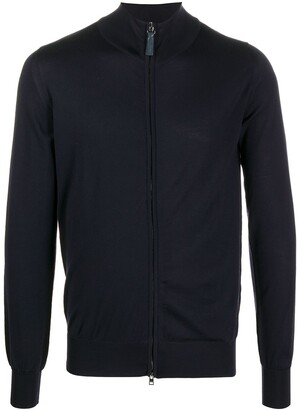 Brioni Zip-Up Wool Cardigan