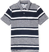 NN07 - Quince Striped Cotton-Terry Polo Shirt