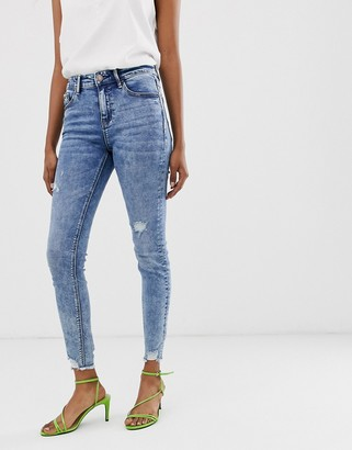 Stradivarius Join Life skinny low waist jeans in light wash