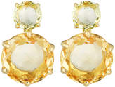 Ippolita 18k Rock Candy 2-Stone Post Earrings in Green-Gold/Orange Citrine