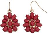 Chaps Faceted Marquise & Teardrop Earrings