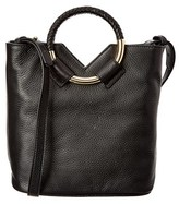 Sam Edelman Elina Ring Leather Mini Bucket Tote.