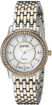 August Steiner Women's AS8027TRI Swiss Quartz Two-Tone Watch