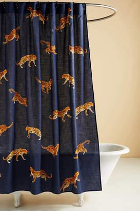 Anthropologie Leopard Shower Curtain